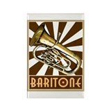 BandNerd.com: Retro Baritone Rectangle Magnet