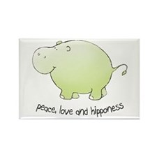 peace,love & hipponess Rectangle Magnet (100 p