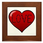 Love Tat Framed Tile