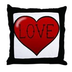 Love Tat Throw Pillow