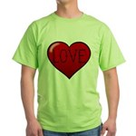 Love Tat Green T-Shirt