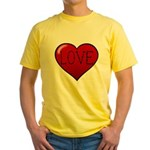 Love Tat Yellow T-Shirt