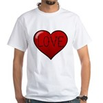 Love Tat White T-Shirt
