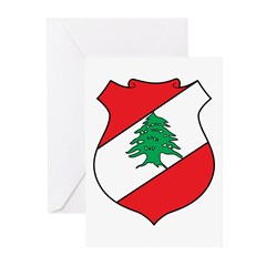 Lebanon Coat of Arms Greeting Cards (Pk of 10)
