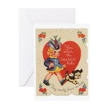 Crazy Hat Valentine Greeting Card
