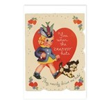 Crazy Hat Valentine Postcards (Package of 8)