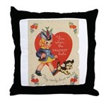 Crazy Hat Valentine Throw Pillow