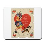 Crazy Hat Valentine Mousepad