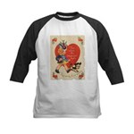 Crazy Hat Valentine Kids Baseball Jersey