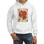 Crazy Hat Valentine Hooded Sweatshirt