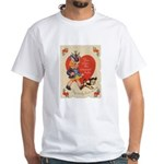 Crazy Hat Valentine White T-Shirt