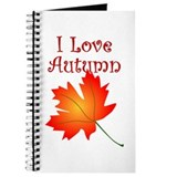 I Love Autumn Leaves Journal