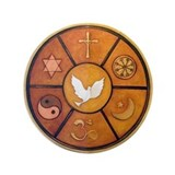 "Interfaith Symbol - 3.5"" Button"