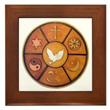 Interfaith Symbol - Framed Tile