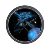 Cute Rings of saturn Wall Clock