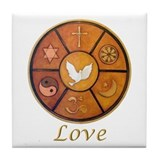 "Interfaith ""Love"" - Tile Coaster"