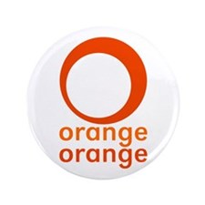 "orange orange 3.5"" Button (100 pack)"