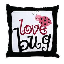 Love Bug Throw Pillow
