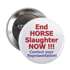 "Stop Horse Slaughter 2.25"" Button"