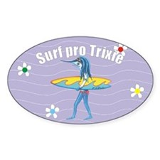 Surf Pro trixie Oval Decal