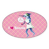 Tennis Trixie Oval Decal