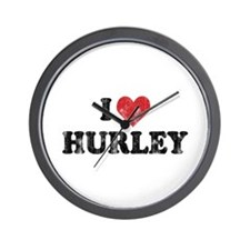 I Heart Hurley Wall Clock