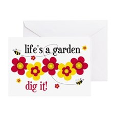 Life's A Garden Greeting Card