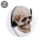 "Headphones Skull 3.5"" Button (10 pack)"
