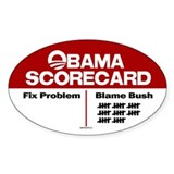 Obama Scorecard Oval Decal