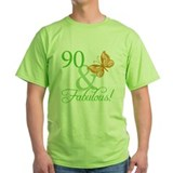 90 &amp; Fabulous Birthday T-Shirt