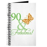 90 & Fabulous Birthday Journal