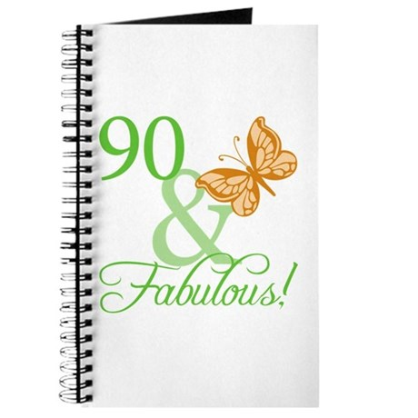 90 &amp;amp; Fabulous Birthday Journal