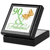 90 & Fabulous Birthday Keepsake Box