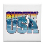 Surfin' USA Tile Coaster