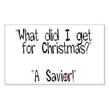 Christmas Savior Rectangle Decal