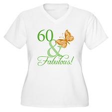 60 & Fabulous Birthday T-Shirt