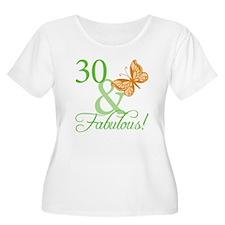 30 & Fabulous Birthday T-Shirt