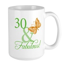 30 & Fabulous Birthday Ceramic Mugs