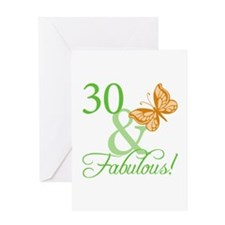 30 & Fabulous Birthday Greeting Card