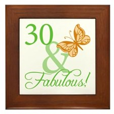30 & Fabulous Birthday Framed Tile
