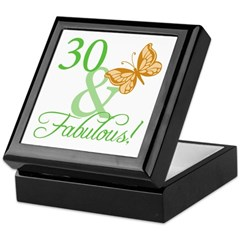 30 & Fabulous Birthday Keepsake Box