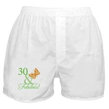 30 & Fabulous Birthday Boxer Shorts
