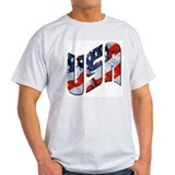 U.S.A. patriotic Ash Grey T-Shirt