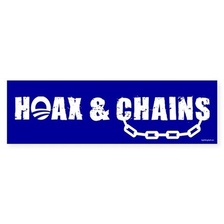 HOAX & CHAINS Bumper Sticker