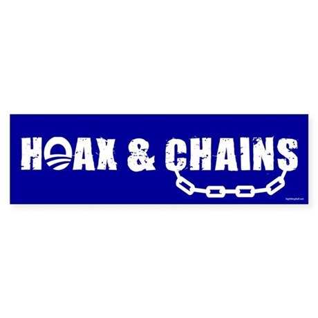 HOAX & CHAINS Bumper Sticker (50 pk)