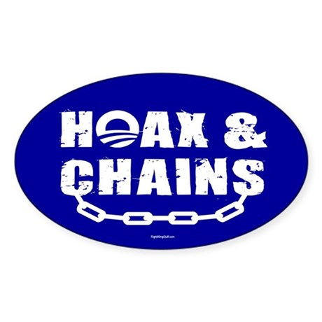 HOAX & CHAINS Oval Sticker