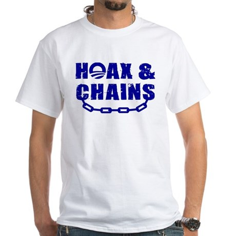 HOAX & CHAINS White T-Shirt
