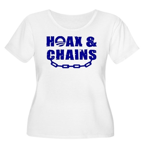 HOAX & CHAINS Women's Plus Size Scoop Neck T-Shirt
