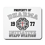 Property of Dharma - Staff Mousepad