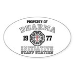 Property of Dharma - Staff Oval Sticker (50 pk)